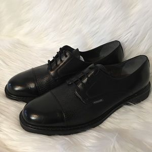 Mephisto Goodyear Derby Black Leather Shoe Size 14